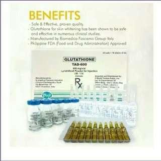 TAD Glutathione 600 mg 10 vials
