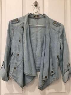 Denim style crop jacket