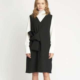 Shopatvelvet Pommier Shift V Neck Dress - Black