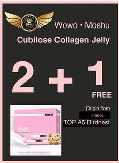 BUY 2 BOXES, GET 1 FREE! WOWO | MOSHU 魔束| CUBILOSE COLLAGEN JELLY 燕窝胶原蛋白多肽冻