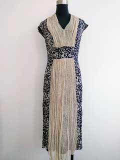 Saga silk blend dress