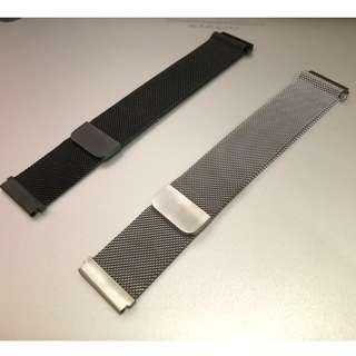 (Samsung Gear S3) 米蘭錶帶 22mm 黑色 銀色 (2色) 鋼質材料