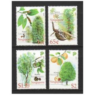 SINGAPORE 2008 CASH CROP OF EARLY SINGAPORE COMP. SET OF 4 STAMPS IN MINT MNH UNUSED CONDITION