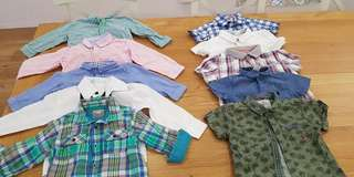 Boy long sleeve shirts 1-2yrs old