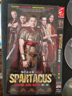 DVD Spartacus blood and sand (3 discs)
