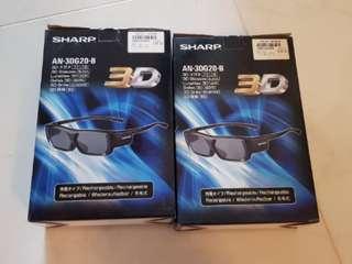Sharp 3D glasses (2 pairs)