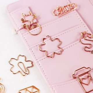 ✨Rose Gold Metallic Paperclips #A001