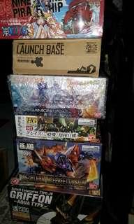 Gundam, Digimon and One pice