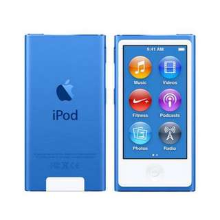 iPod Nano 7th Generation (Blue colour)