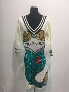 Brand Sequins Mermaid Knit Dress