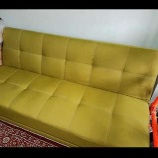 Sofa Bed (Bright Olive Green)