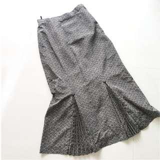 🚚 日本正古著 復古圖騰魚尾窄裙