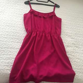 SWEET ROSY HOT PINK DRESS