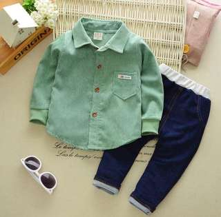 RM35 KIDS CLOTHING FOR BABY BOY COLLAR 2PCS.