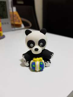 Customise Panda figurine made by air dry clay
