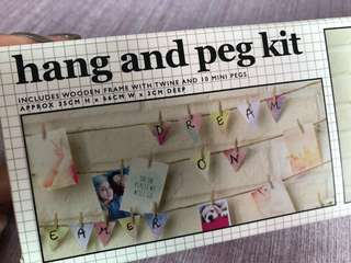 Brand new in box - Typo hang and peg kit