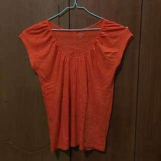 Ann Taylor LOFT orange shirt - size M