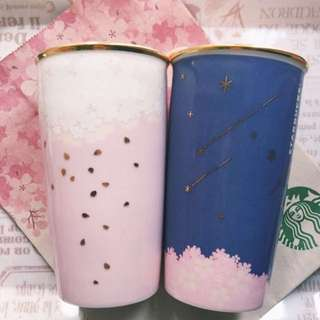 Starbucks Sakura Double Wall Mugs