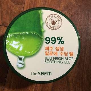 The saem aloe soothing gel jeju fresh