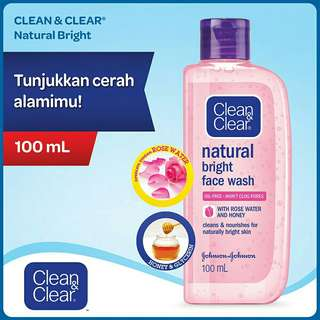 Clean & Clear Natural Bright Face Wash 100ml