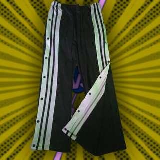 Vintage Retro Streetwear Black Aesthetic Adidas inspired Tearaway Track Pants trackpants jogging