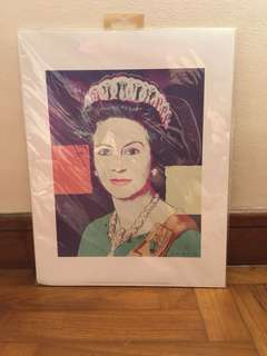 Queen of England (Andy Warhol-style) Print