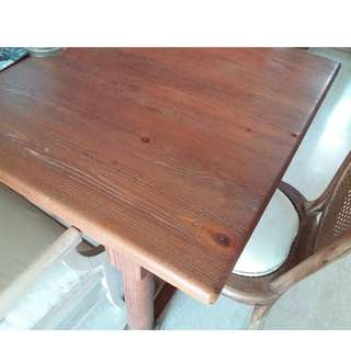 Gorgeous Antique French Solid Oakwood Table