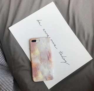 🚚 粉紅色粉色大理石軟殼 iphone殼 手機殼