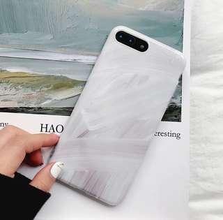 🚚 冷淡風 油漆刷痕 手機殼 iphone殼 軟殼