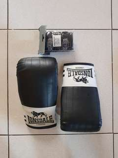 Lonsgale Boxing Bag Gloves for kids to teens with free black hand wraps