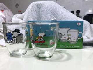 Snoopy CorningWare Glass Cups