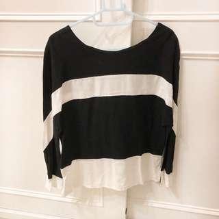 🚚 黑白粗條紋上衣
