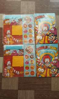 Mcdonals activity book and post it with stickers