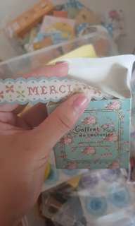 French Merci Floral deco tape