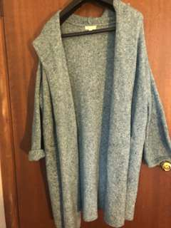 Light blue oversized cardigan size m/l from urban outfitters