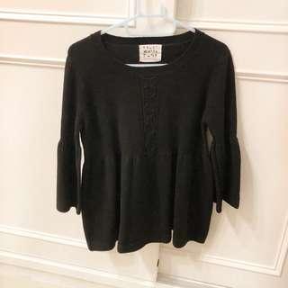 🚚 黑色針織毛衣短洋裝