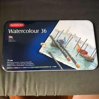Derwent watercolour 36 水溶木顏色