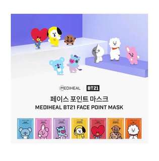 BT21 X MEDIHEALFACE POINT MASK