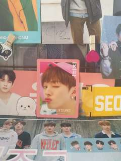 <WTS> OFFICIAL YOON JISUNG TO BE ONE PINK VERSION PHOTOCARD