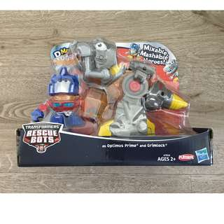 Potato Head Transformers Mixable Mashable Heroes as Optimus Prime and Grimlock Figures