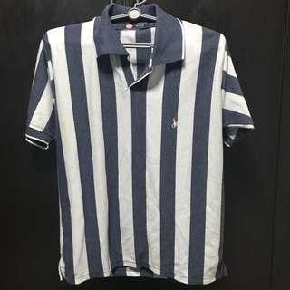 White & blue stripe tshirt