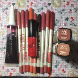 TAKE ALL FOR 300! Maybelline lipstick lip liners lip tint Karadium Ever Bilena