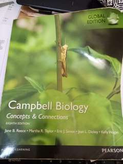 🚚 Campbell Biology:Concepts & Connections by Jane B. Reece, Kelly A. Hogan, Eric J. Simon, Martha R. Taylor and Jean L. Dickey (2013,Hardcover,8th Edition)