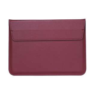 Red wine leather sleeve for macbook 13 inch