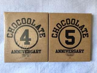 全新正版 未開封  Chocoolate 4 & 5 週年 CD