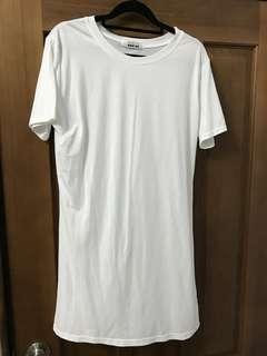 全新米白色長版上衣洋裝
