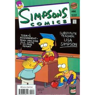 Simpsons Comics #44 (August 1999) - The Prime of Miss Lisa: Just imagine how much better that precious time would have been if you somehow managed to deport your teachers. Through the machinations of the yearbook staff's mimeograph...