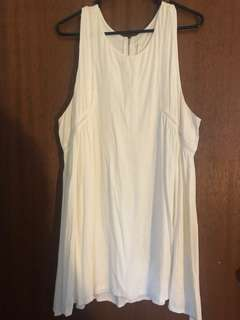 Women's white flowing dress with embroidered detail size large