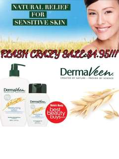 😍$4.95 CRAZY SALE!! GOOD FOR DRY SKIN AND ECZEMA!! ❤FULL SIZE❤ Dermaveen Oatmeal Moisturizing Lotion 250ml