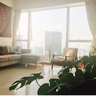 Novena Common Room in Beautiful High Floor High Ceiling Loft Apartment next to MRT